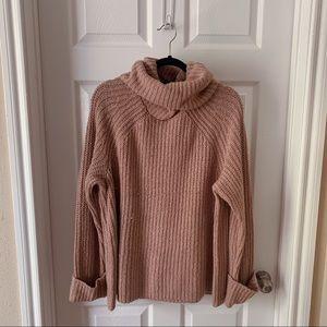 BP pink chunky turtleneck sweater